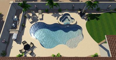 Beautiful in-ground swimming pools in Lake Havasu City, Arizona