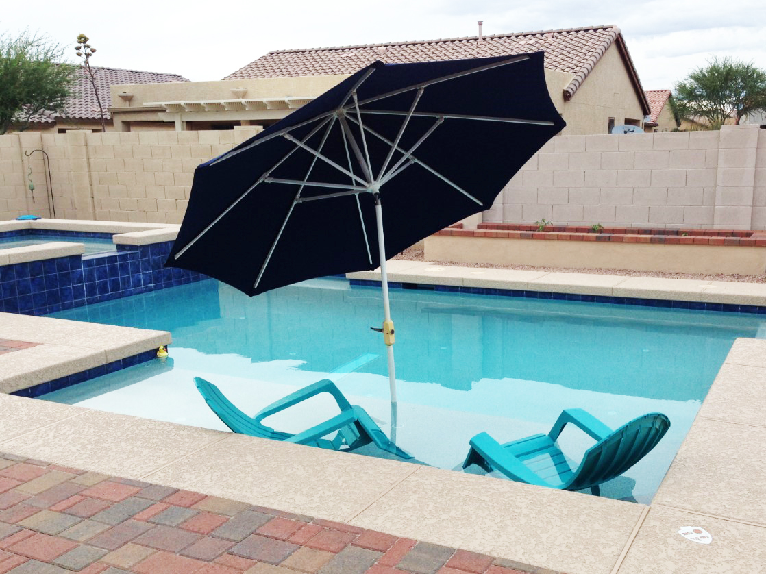 In-ground pools in Lake Havasu City, Arizona.